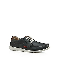 Chatham Marine - Navy leather lace up shoes