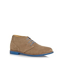 Chatham Marine - Taupe two tone suede chukka boots