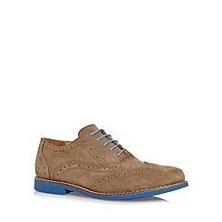 Chatham Marine - Taupe two tone suede brogues