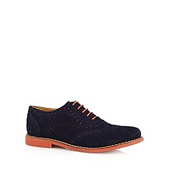 Chatham Marine - Navy two tone suede brogues