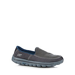 Skechers - Dark grey 'Go Walk 2-Extreme' textured pumps