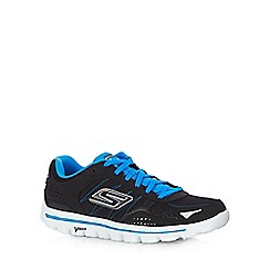 Skechers - Big and tall black 'Go Walk 2 flash' trainers