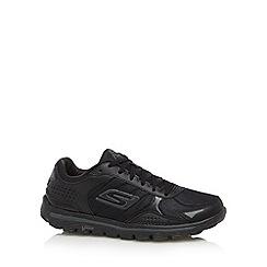 Skechers - Black 'Go Walk 2 Flash LT' trainers