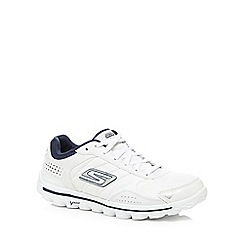 Skechers - Big and tall white 'Go Walk 2 flash' trainers