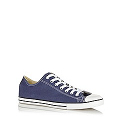 Converse - Navy 'All Star' canvas trainers