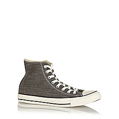 Converse - Black 'All Star' washed canvas hi-top trainers