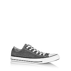Converse - Black 'All Star' washed canvas trainers
