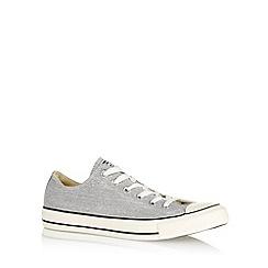Converse - Light grey 'All Star' washed canvas trainers