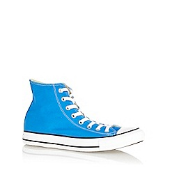 Converse - Blue 'All Star' canvas hi-top trainers