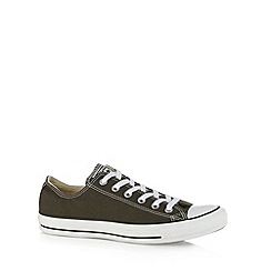 Converse - Khaki canvas lo-top trainers