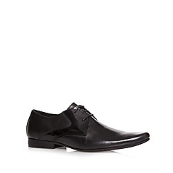 Jeff Banks - Designer black leather pointed toe shoes