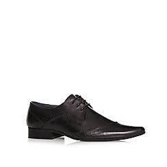 Jeff Banks - Designer black leather pointed toe brogues