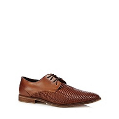 J by Jasper Conran - Designer tan leather straw shoes