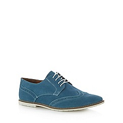 Red Herring - Blue suede lace up brogues