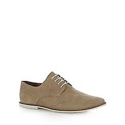 Red Herring - Beige suede lace up brogues