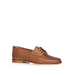 Red Herring - Tan weave loafer shoes
