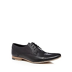 Red Herring - Black grained leather lace up shoes