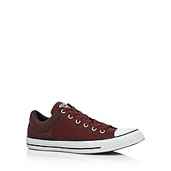 Converse - Wine 'All Star' padded cuff canvas trainers