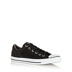 Converse - Black 'All Star' padded cuff canvas trainers