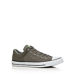 Converse - Grey 'All Star' padded cuff canvas trainers