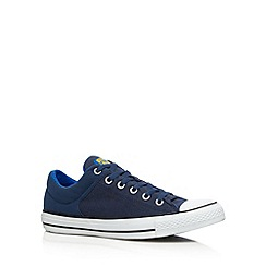 Converse - Navy 'All Star' padded cuff canvas trainers