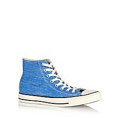 Converse - Blue 'All Star' washed canvas hi-top trainers