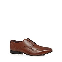 J by Jasper Conran - Designer tan leather lace up brogues
