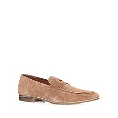 Red Herring - Tan suede loafer shoes