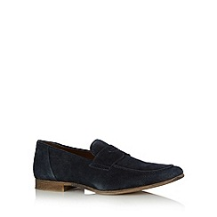 Red Herring - Navy suede loafer shoes