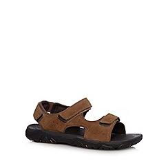 Rockport - Beige 'Adiprene' leather rip tape sandals