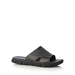 Rockport - Black 'Adiprene' leather sandals