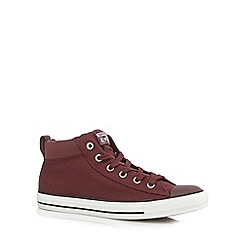 Converse - Wine 'All Star' hi-top trainers