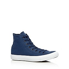 Converse - Navy 'All Star' two tone canvas hi-top trainers