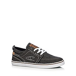 O'Neill - Black washed canvas plimsolls