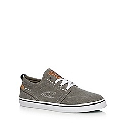O'Neill - Grey washed canvas plimsolls