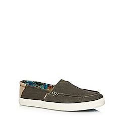 O'Neill - Olive canvas slip ons