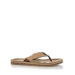 O'Neill - Tan suedette flip flops