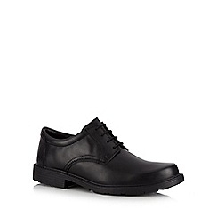 Clarks - Black 'Lair Watch' leather lace up shoes