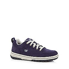 Caterpillar - Navy suede lace up trainers