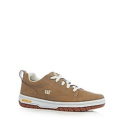 Caterpillar - Tan suede lace up trainers