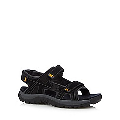 Caterpillar - Big and tall black multi strap sandals