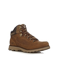 Caterpillar - Dark tan leather lace up boots
