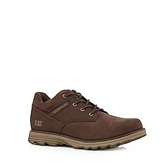 Caterpillar - Chocolate leather lace up shoes