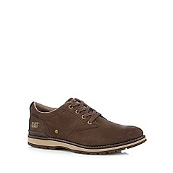 Caterpillar - Dark tan leather lace up shoes