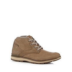 Caterpillar - Tan leather lace up mid shoes