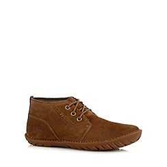 Caterpillar - Tan suede mid length boots