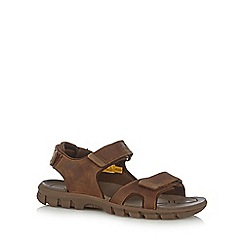 Caterpillar - Tan leather rip tape sandals