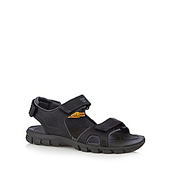 Caterpillar - Black leather multi strap sandals