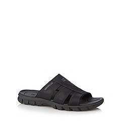 Caterpillar - Black leather cutout sandals