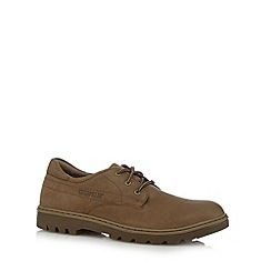 Caterpillar - Tan leather lace up logo shoes